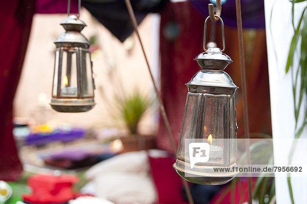 Party  Zelt  Beleuchtung  Licht  marokkanisch  Tee