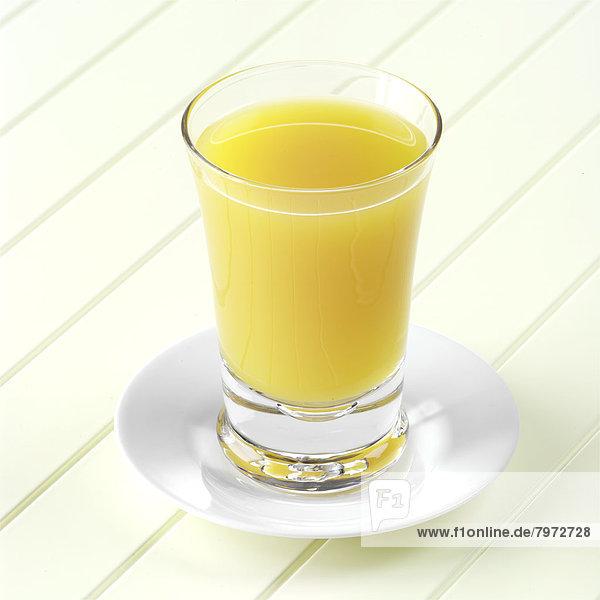 Glas  Saft  Mango