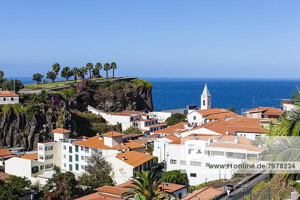 Portugal  View of houses at Camara de Lobos