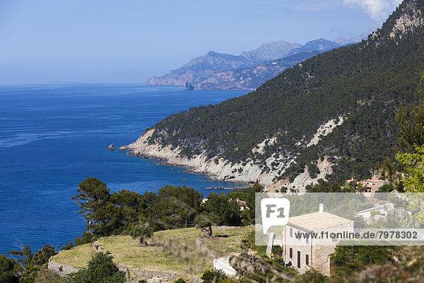 Spain  Mallorca  View of Finca at Balearic Islands