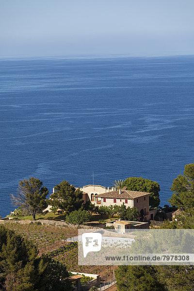 Spanien  Mallorca  Ansicht der Finca auf den Balearen