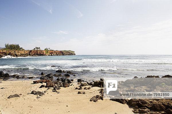 USA,  Hawaii,  Blick auf das Strandufer