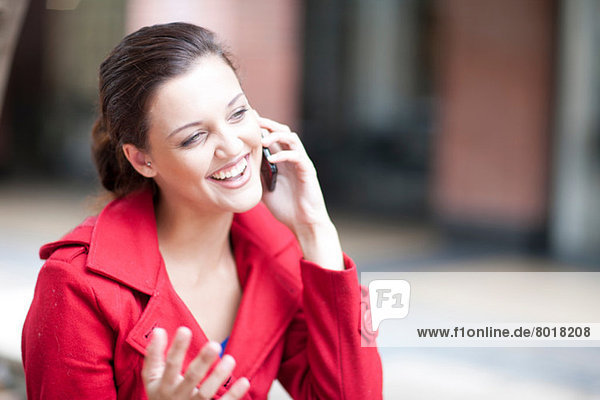 Young woman on cellphone