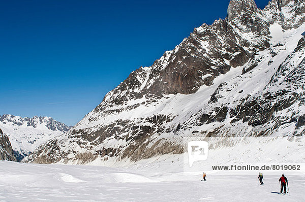 La Vallee Blanche  Chamonix  Frankreich