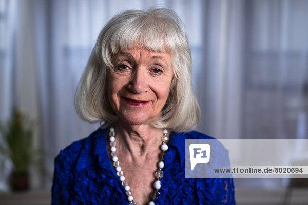 Portrait of senior woman smiling
