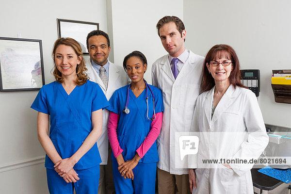 Medical professionals together in hospital  portrait