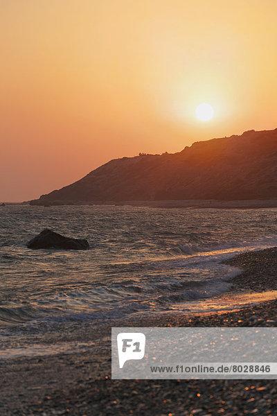 Wasserrand  Sonnenuntergang  ankommen  Küste  Ansicht