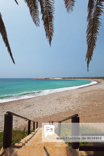 Stufe  führen  Wasser  Strand  Ozean  türkis