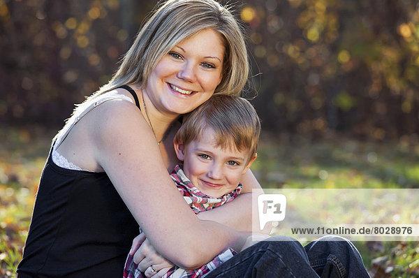 Portrait  Sohn  Herbst  Mutter - Mensch