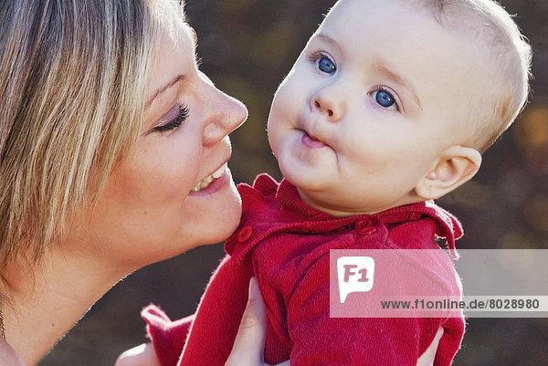 Portrait  Tochter  Mutter - Mensch  Baby