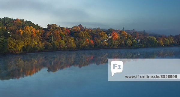 Amerika  Sonnenaufgang  Nebel  Fluss  Verbindung  Maine