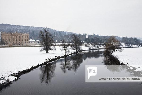 Winter Fluss Derwent