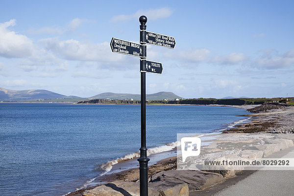 Direction and destination sign Waterville county kerry ireland