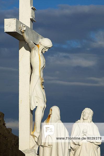 überqueren  Frau  Statue  2  Jesus Christus  Christ  Kreuz