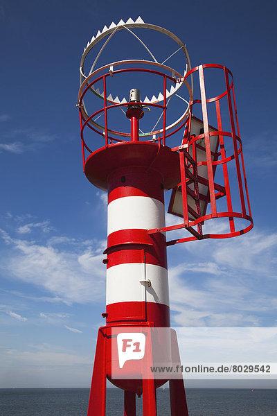 Ecke  Ecken  weiß  Leuchtturm  rot  Bake