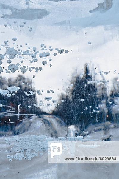 Amerika  Baum  Fernverkehrsstraße  Eis  Form  Formen  Ansicht  Blendenfleck  lens flare  Blick in die Kamera  Verbindung  Menschenreihe  Alaska  Anchorage
