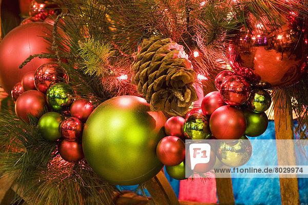 beleuchtet Baum Close-up Weihnachten Dekoration