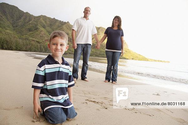 Portrait  Pose  Amerika  Strand  Verbindung  Hawaii  Oahu