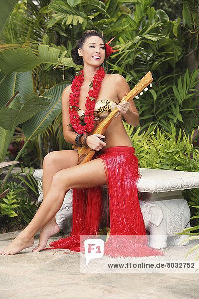 Frau Hawaii Hawaiianisch Kleidung Lei 2327248highresrot Spiel