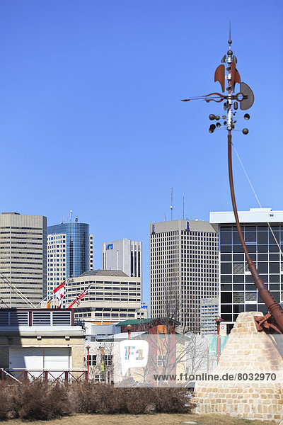 Skyline  Skylines  sehen  Gabel  Kanada  Innenstadt  Manitoba  Winnipeg