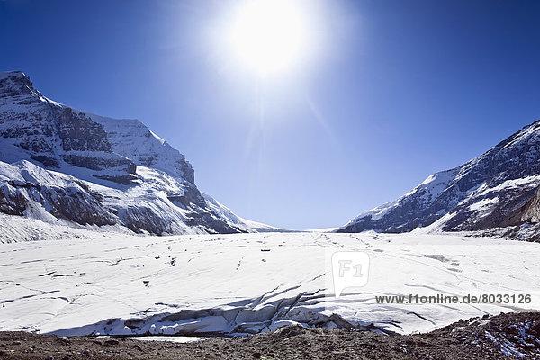 Jasper Nationalpark  Eisfeld  Alberta  Kanada