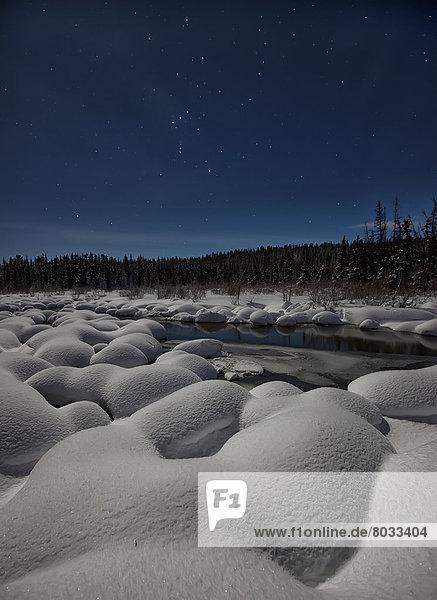 Nacht  Himmel  Landschaft  Schnee  Mondschein  Anordnung