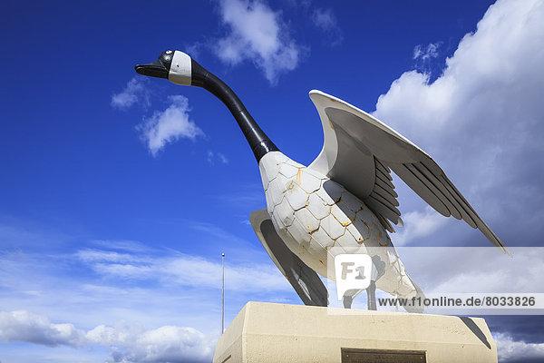 Canada goose statue Wawa ontario canada