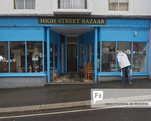 Antique shop  Falmouth  Cornwall  England  United Kingdom