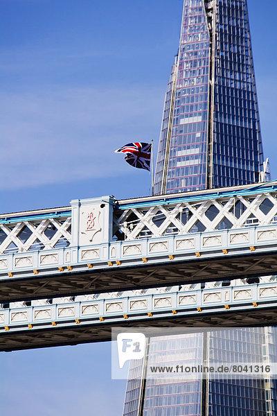 Detailansicht der Tower Bridge  London  Großbritannien