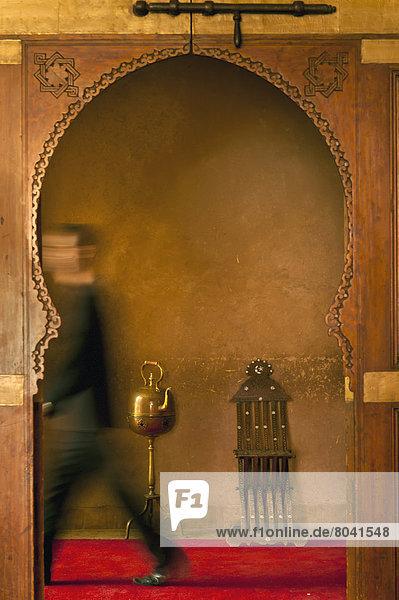 gehen  Eingang  Hotel  Nostalgie  Marokko  Kellner