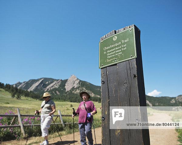 Chautauqua Park and mountain trail  Boulder  Colorado  USA