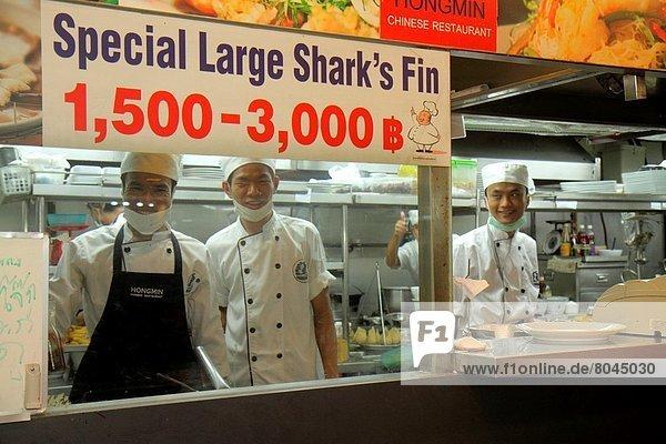 Bangkok  Hauptstadt  Einkaufszentrum  Mann  arbeiten  Beruf  Küche  chinesisch  Restaurant  kaufen  Koch  Komplexität  Hai  Thailand
