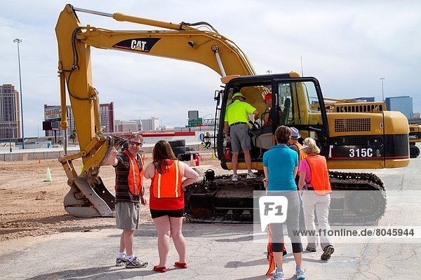 Nevada  Las Vegas  Dig This  hands on  hands-on  bulldozer  excavator  construction equipment  orientation  Caterpillar 315C hydraulic excavator .