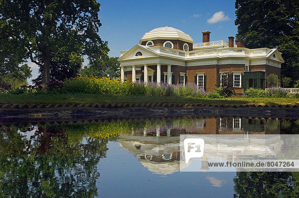 View of Monticello  Charlottesville  Virginia  USA