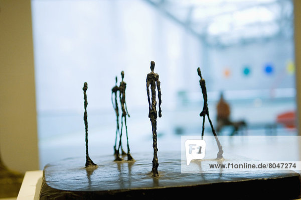Alberto Giacometti sculptures at National Gallery of Art  Washington DC  USA