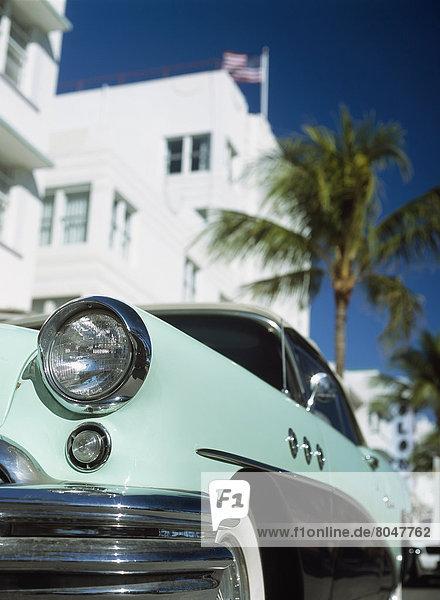Vereinigte Staaten von Amerika  USA  Außenaufnahme  Gebäude  fahren  Ozean  Kunst  parken  Buick  Florida  Miami  alt  South Beach