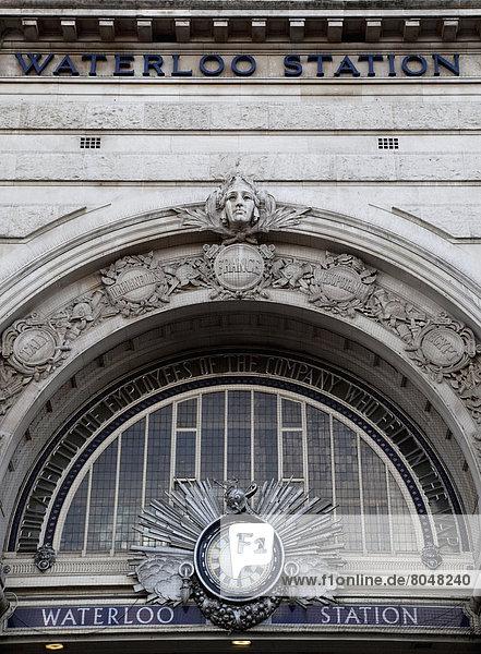 Außenansicht der Waterloo Station  South London  London  England  UK