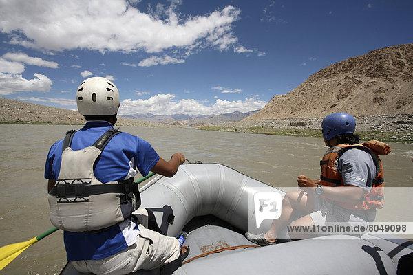 Rafting on Indus River  Indus Valley  Ladakh  India