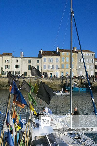 Sailing boats in old harbour  La Rochelle  Poitou-Charentes  France
