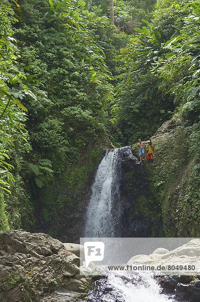 Seven Sisters Waterfall  Grenada  Caribbean