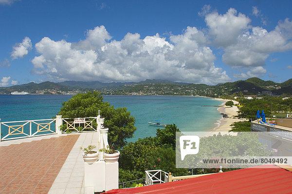 Elevated view of Grand Anse Beach  Grenada  Caribbean