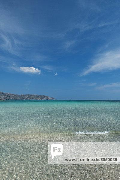 Meerlandschaft  Elafonisi  Kreta  Kreta  Griechenland