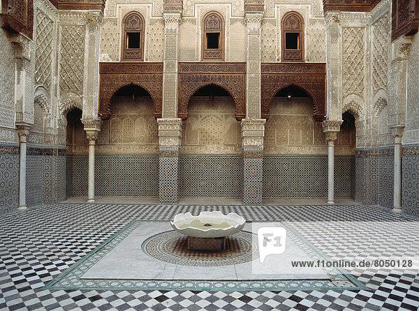Fès  Fez  Innenhof  Hof  Fes  Marokko