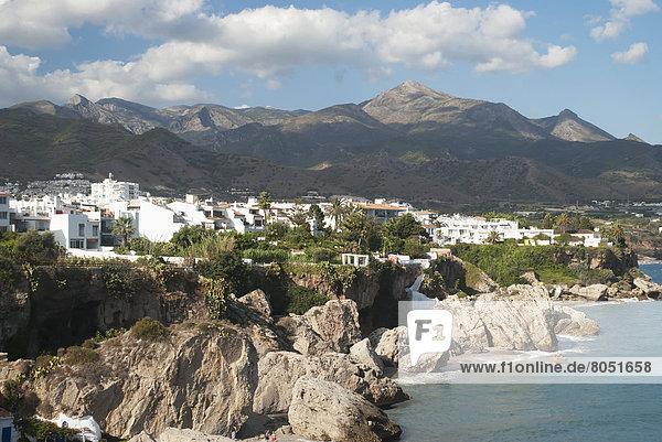 Traditional Andalusian white houses  Village  Frigiliana  Malaga  Andaluc'a  Spain