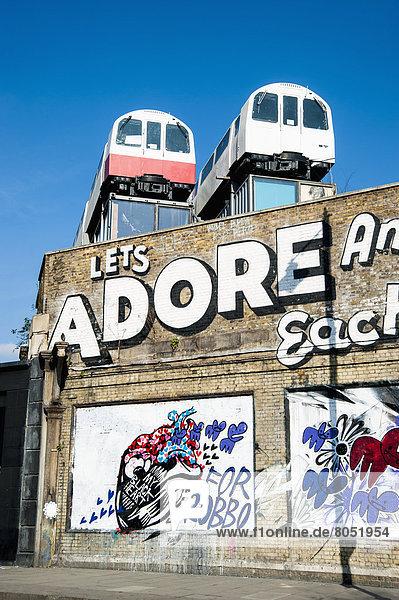 Street Art in Shoreditch  London  England  Großbritannien