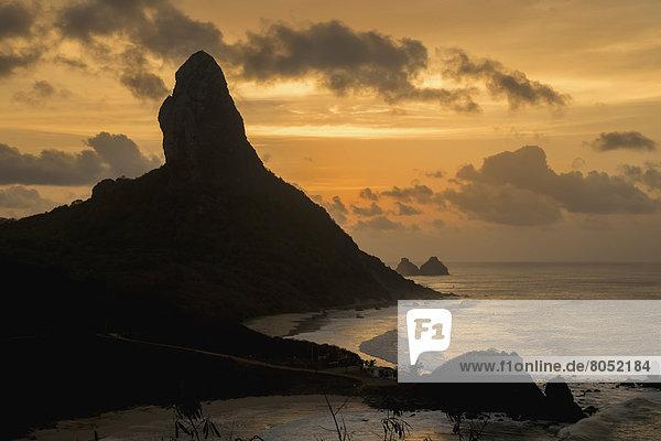 Sonnenuntergang  Ansicht  Brasilien  Pernambuco