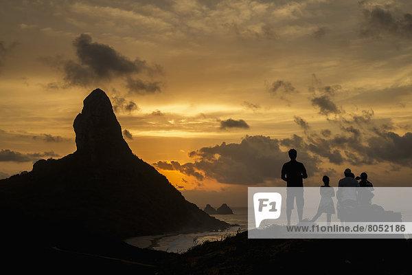 Mensch  Menschen  Sonnenuntergang  Bewunderung  über  Brasilien  Pernambuco