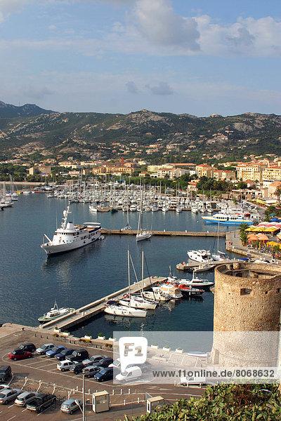 Jachthafen  Ansicht  Calvi  Korsika
