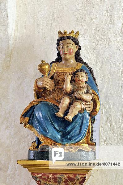 Jungfrau Maria  Madonna  Tal  Kirche  Statue  Aure  Weg