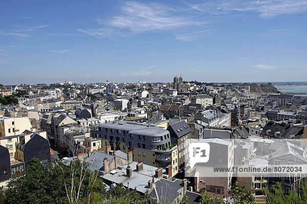 Rooftop view of Granville in the Manche department  Basse-Normandie region (Lower Normandy). The city and the Church of Saint Paul